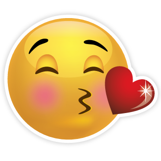 Blowing Kisses Emoji  Smiley   Clipart Best   Clipart Best