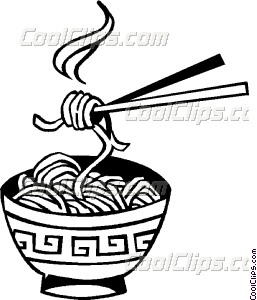 Chinese Noodles Vector Clip Art