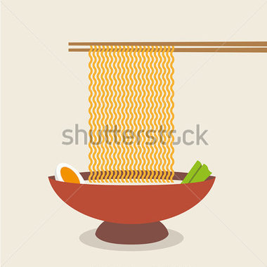 Food   Drinks   Illustration Of Chopsticks Holding Asian Noodles