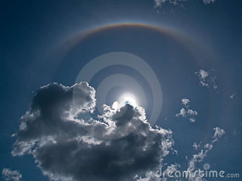 Halo Nimbus Icebow Clouds Formation Stock Photos   Image  10234653