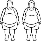 Morbidly Obese People   Royalty Free Clip Art