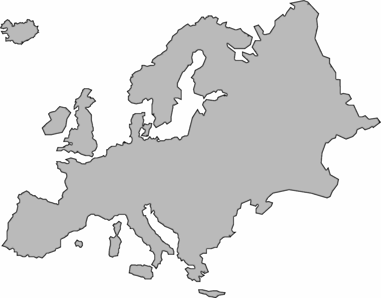 Europe Continent Clipart Clipart Kid – Map of the European Continent