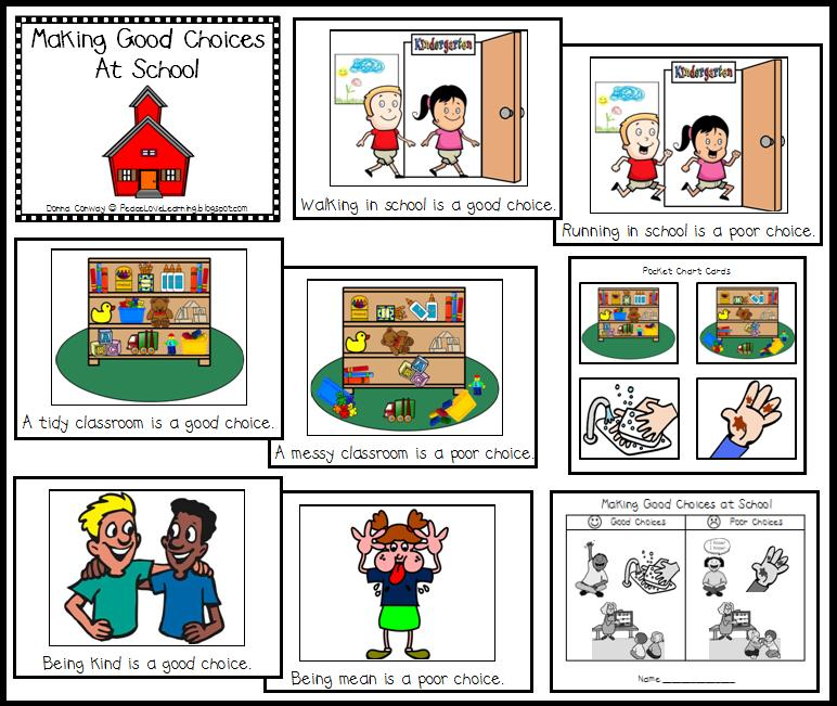 Printables Making Good Decisions Worksheets good and bad choices clipart kid peace love learning my golden class starting from scratch