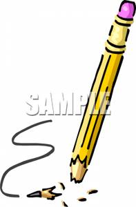 Pencil With A Broken Tip   Royalty Free Clipart Picture