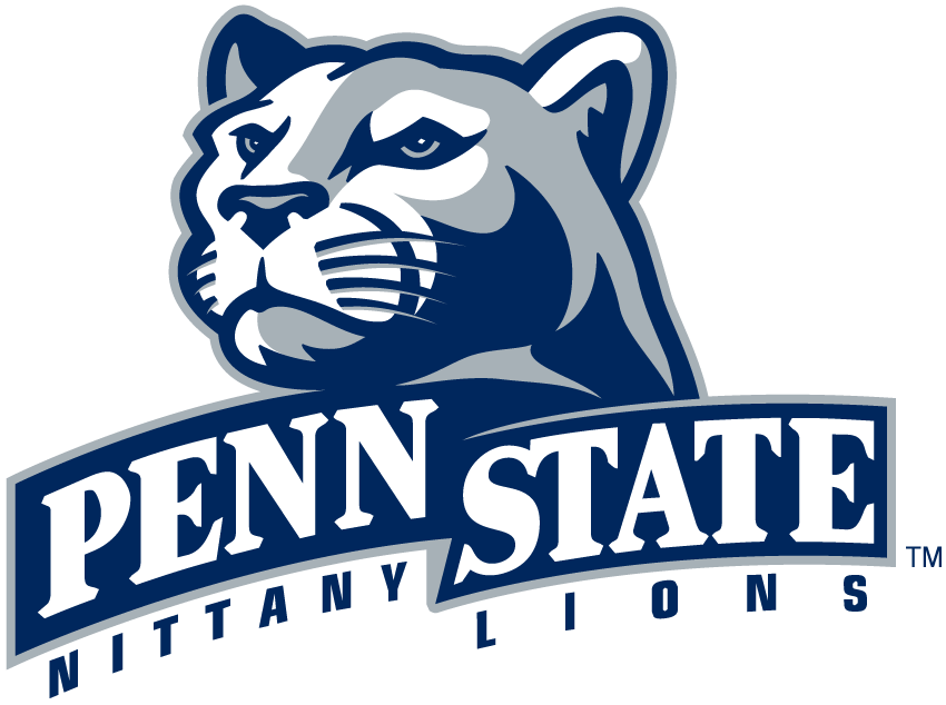 Penn State Nittany Lions Primary Logo  2001    Lions Head Over Banner
