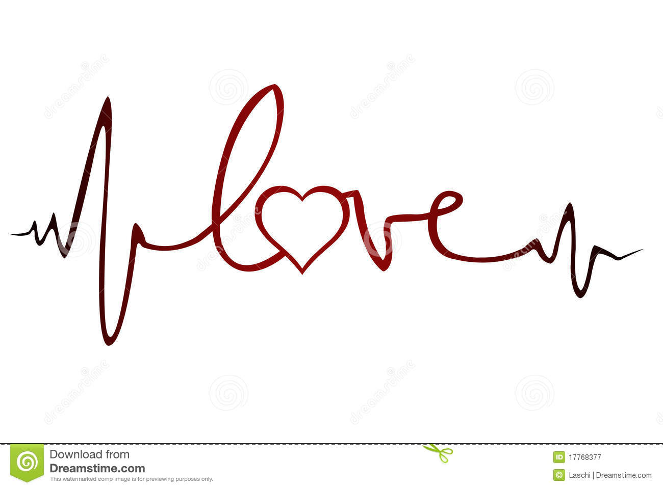 Royalty Free Stock Photography  Love Ekg