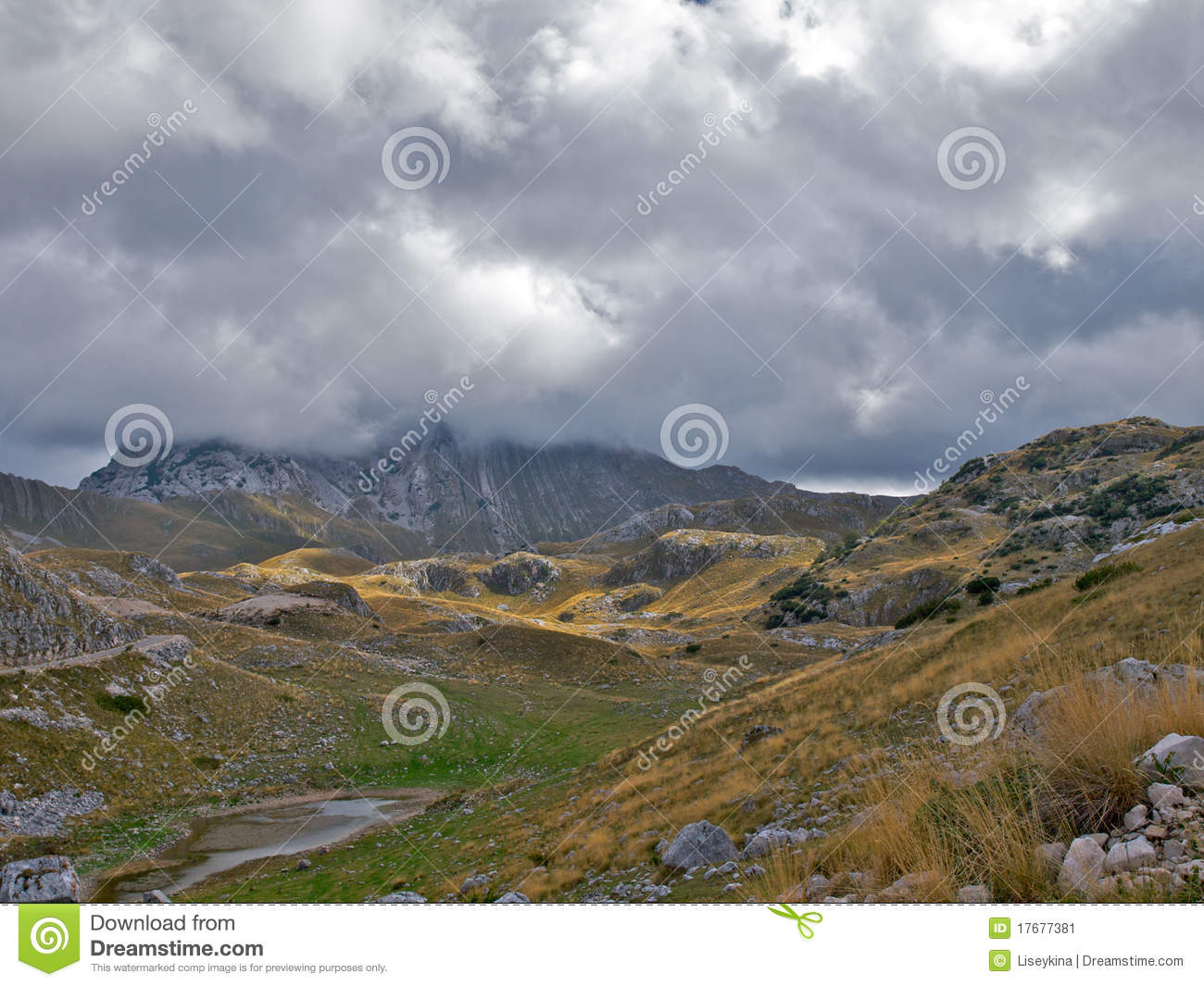 Similar Stock Images Of   Mountain Peak Hidden By Low Nimbus Clouds