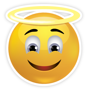 Sweet Angel Face Emoji  Smiley   Clipart Best   Clipart Best