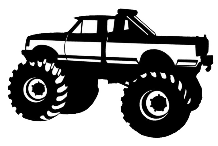 Monster Truck Silhouette Clipart - Clipart Kid