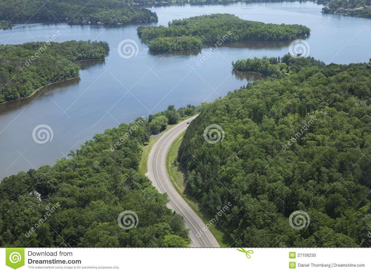 Aerial View Of Mississippi River In Minnesota Stock Photo   Image