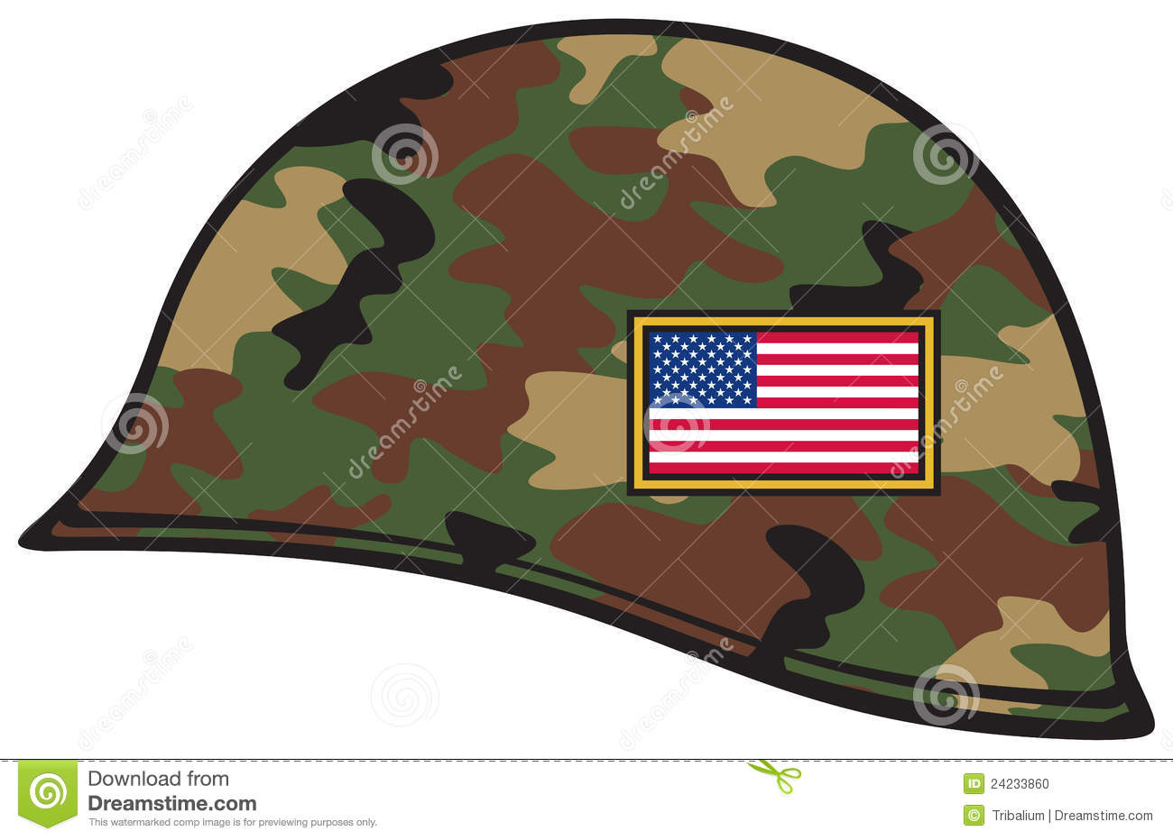 Army Hat Clipart Army Helmet Usa Flag
