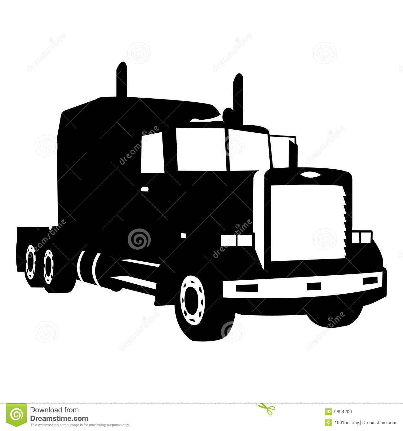 Black Truck Silhouette Vector Illustration
