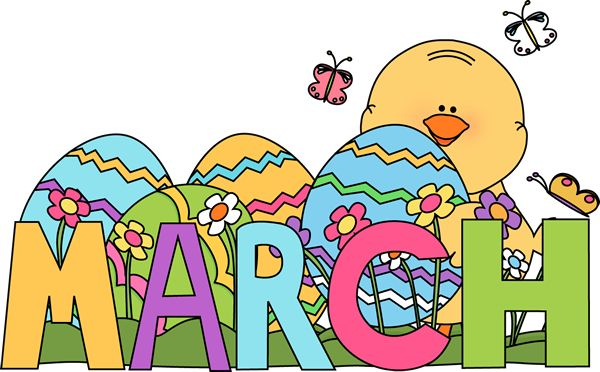 Clip Art For Each Month   Month Of March Easter Clip Art Image   The