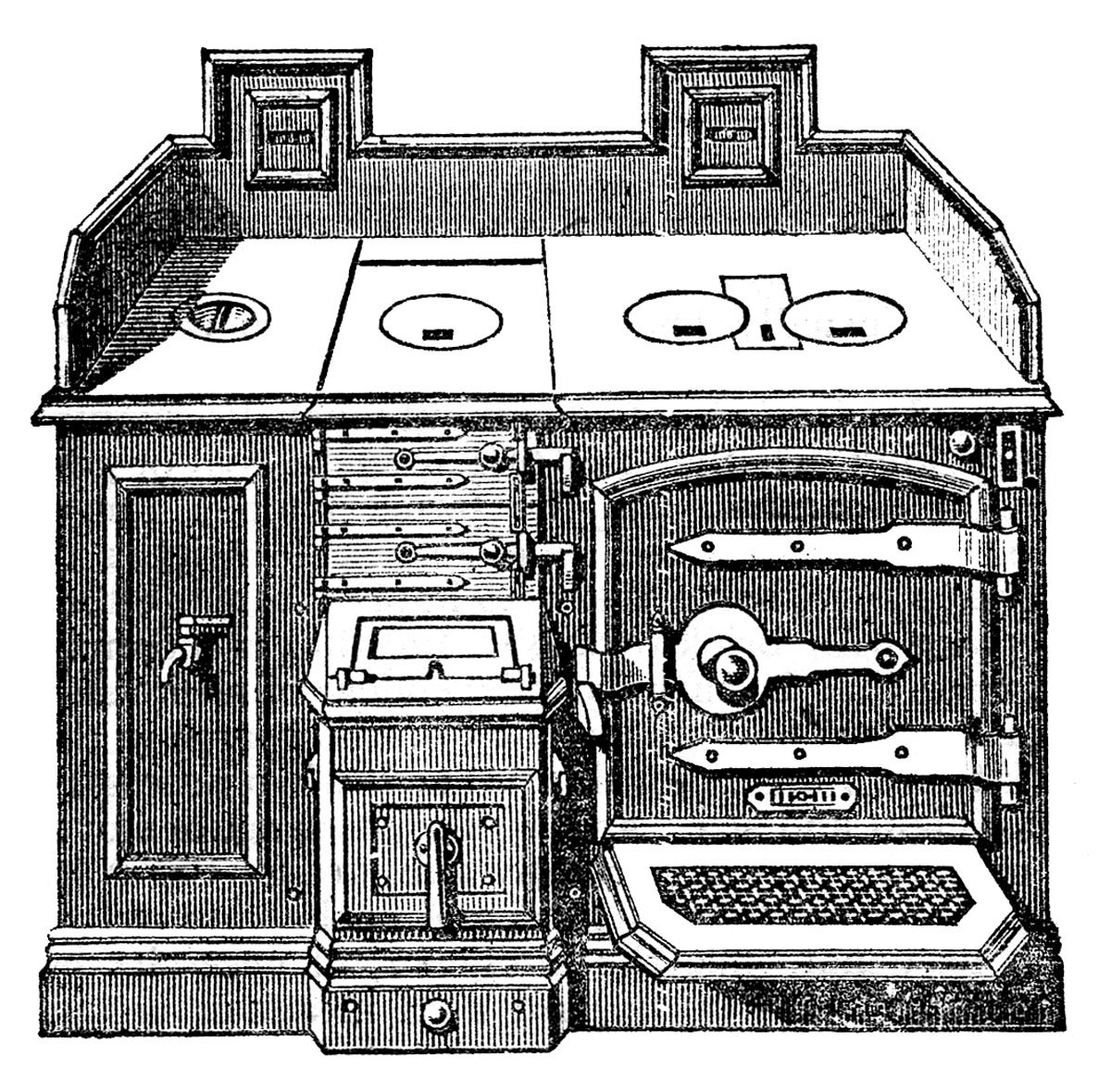 Old Stove Clipart - Clipart Suggest