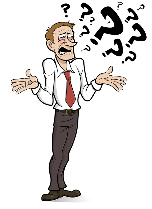 Confused Man Clipart - Clipart Suggest