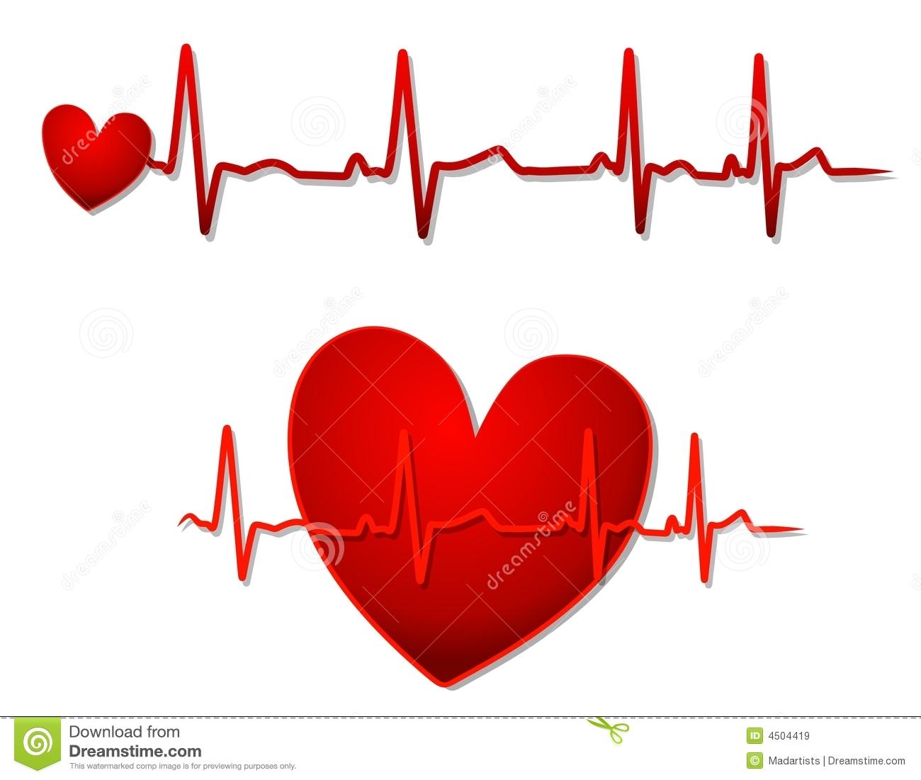 Clip Art Line Of Hearts : Ekg line clipart suggest