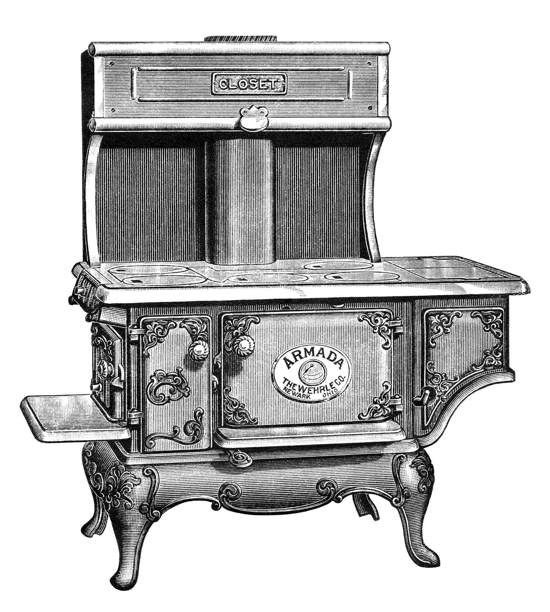 Free Vintage Image Antique Armada Stove Clip Art   Old Design Shop