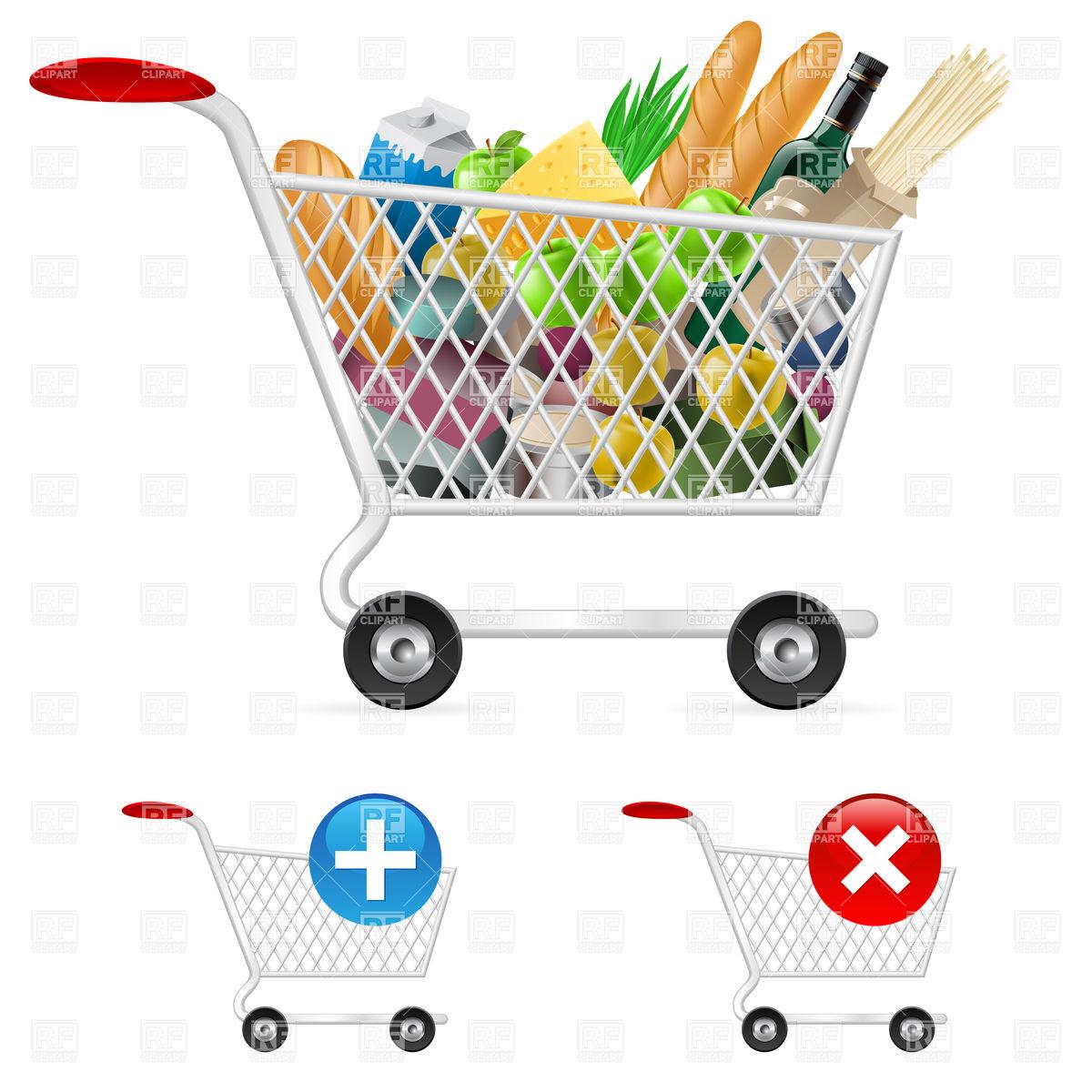 Full Grocery Cart Clipart Clip Art Cart F...