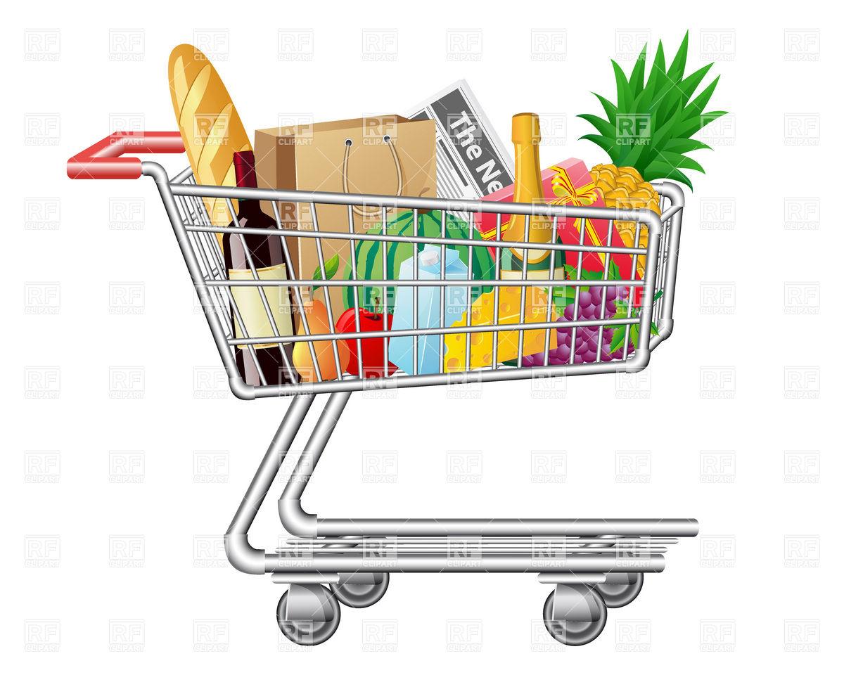 Clip Art Cart Full Shopping Clipart - Clipart Suggest