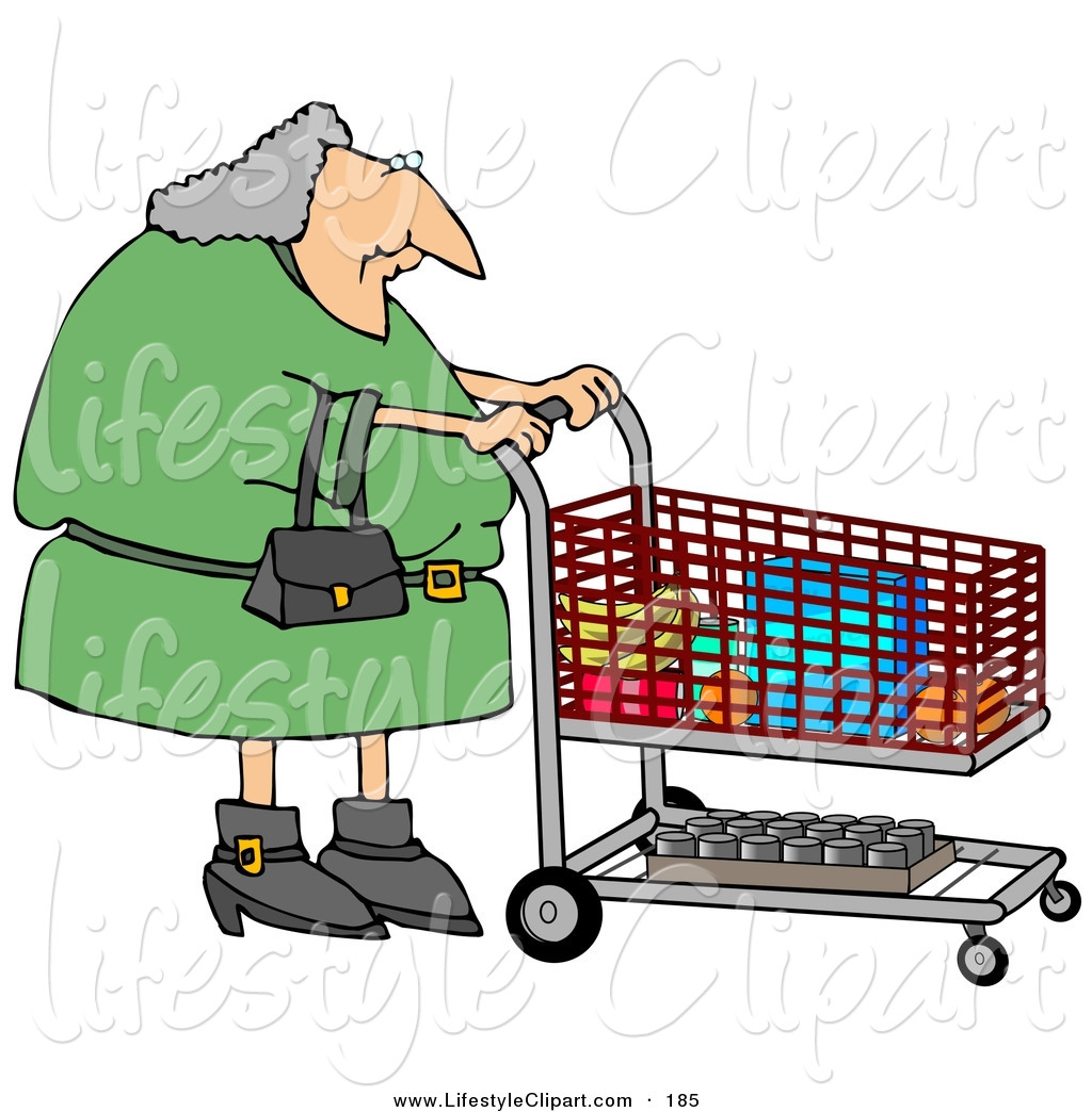 Grocery Cart Clipart Shopping Cart In A Grocery