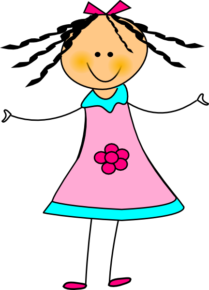 Happy Girl Clip Art At Clker Com   Vector Clip Art Online Royalty