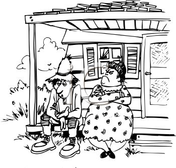 Hillbilly Line Drawings Clipart - Clipart Kid