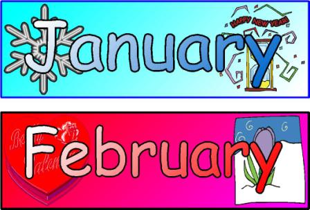 Months Of The Year Poster Printables