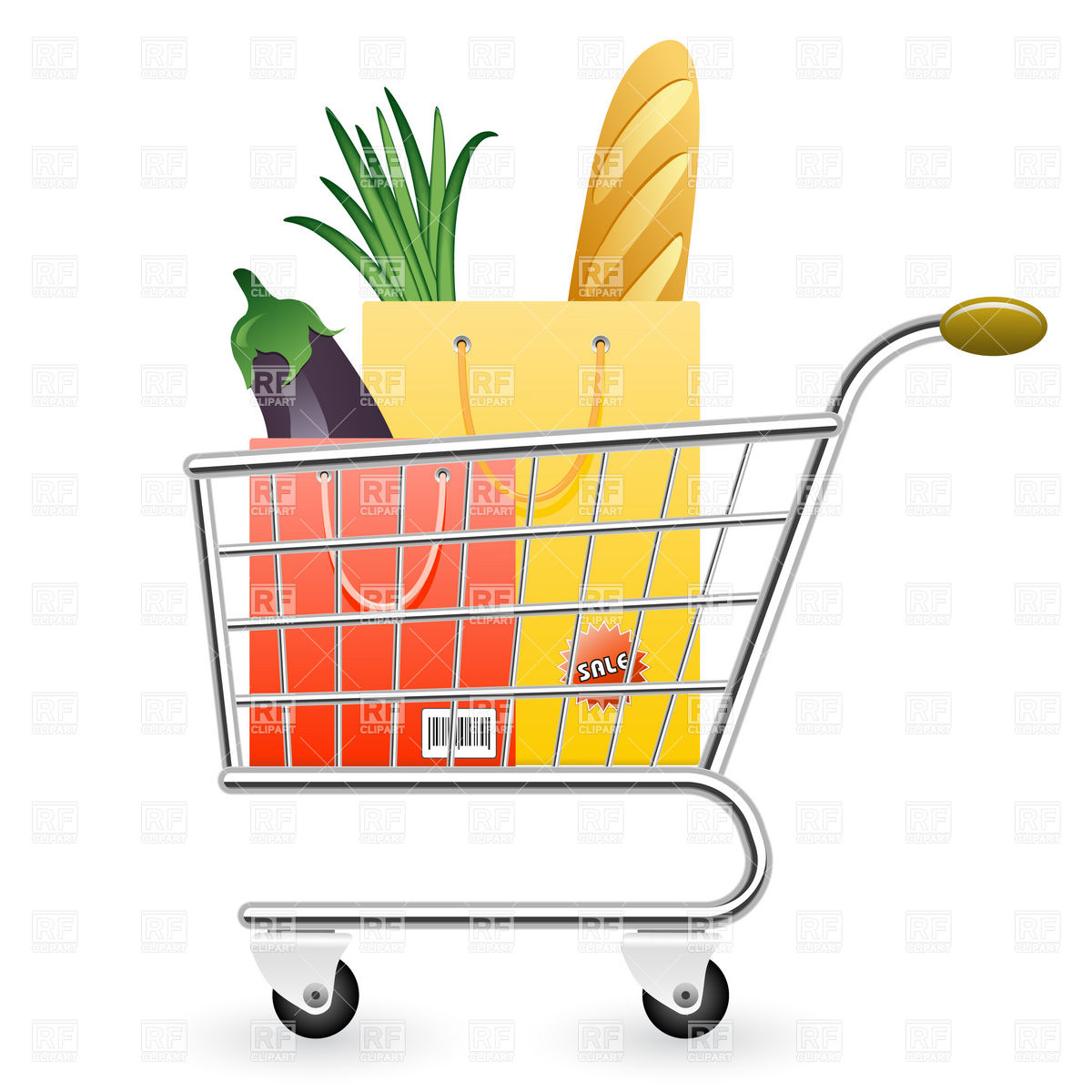 Shopping Cart Full Of Products 5932 Objects Download Royalty Free