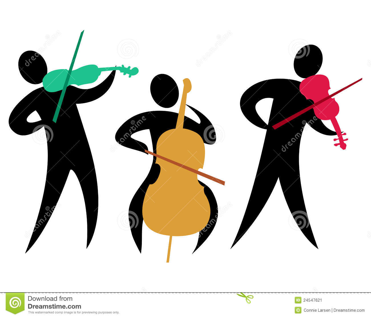 Abstract Classical String Trio Eps Stock Image   Image  24547621