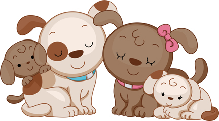 Animal Dog Family Illustration Featuring A Family Of Dogs Price   10