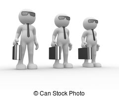 Briefcase   3d People   Human Character With Briefcase And