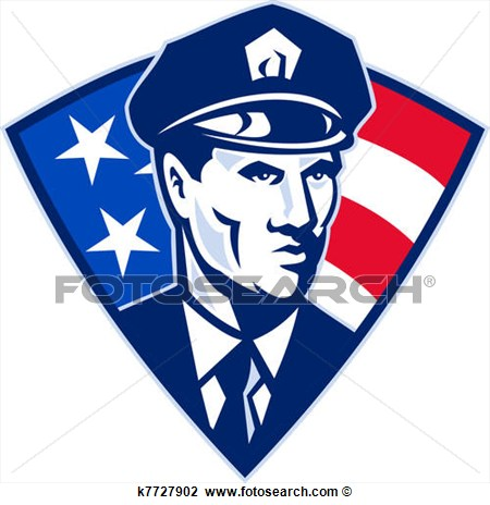 Clip Art   American Policeman Police Officer Security   Fotosearch