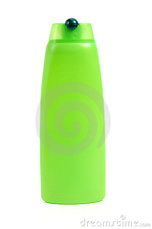 Clipart Of Green Shampoo Bottle Isolated On White Background