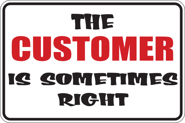 Customer Is Sometimes Right Clip Art At Clker Com   Vector Clip Art