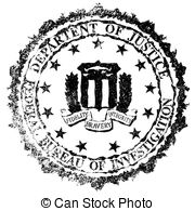 Fbi Rubber Stamp   The Seal Of The Federal Bureau Of