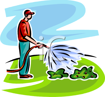 Watering The Lawn Clipart - Clipart Suggest