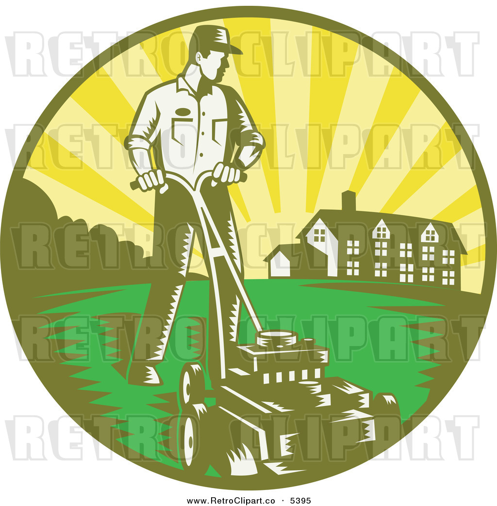 Lawn and house clipart clipart suggest for Lawn care vector
