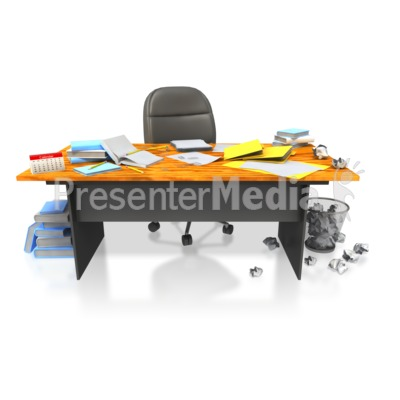 Messy Disorganized Office Desk   Presentation Clipart   Great Clipart