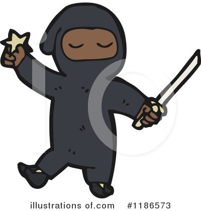 Ninja Clipart  1186573 By Lineartestpilot   Royalty Free  Rf  Stock