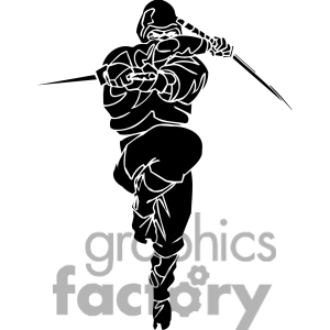 Royalty Free Ninja Clipart 016 Clipart Image Picture Art   384680