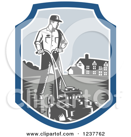 Royalty Free  Rf  Yard Work Clipart Illustrations Vector Graphics  1
