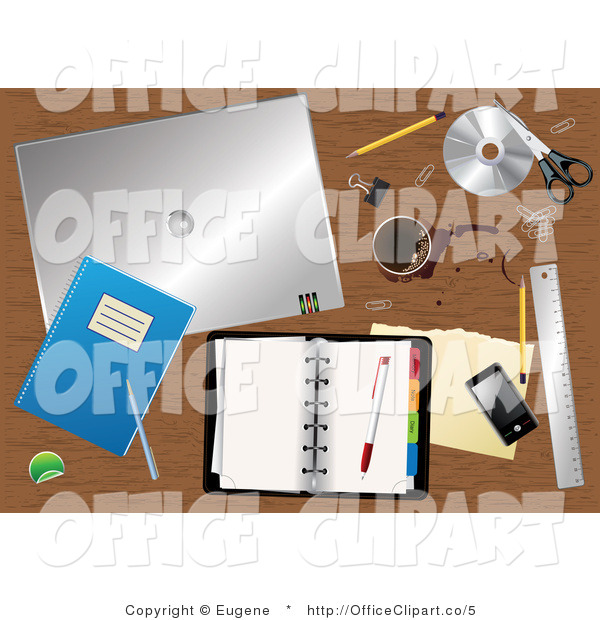 Royalty Free Vector Office Clip Art Of A Messy Office