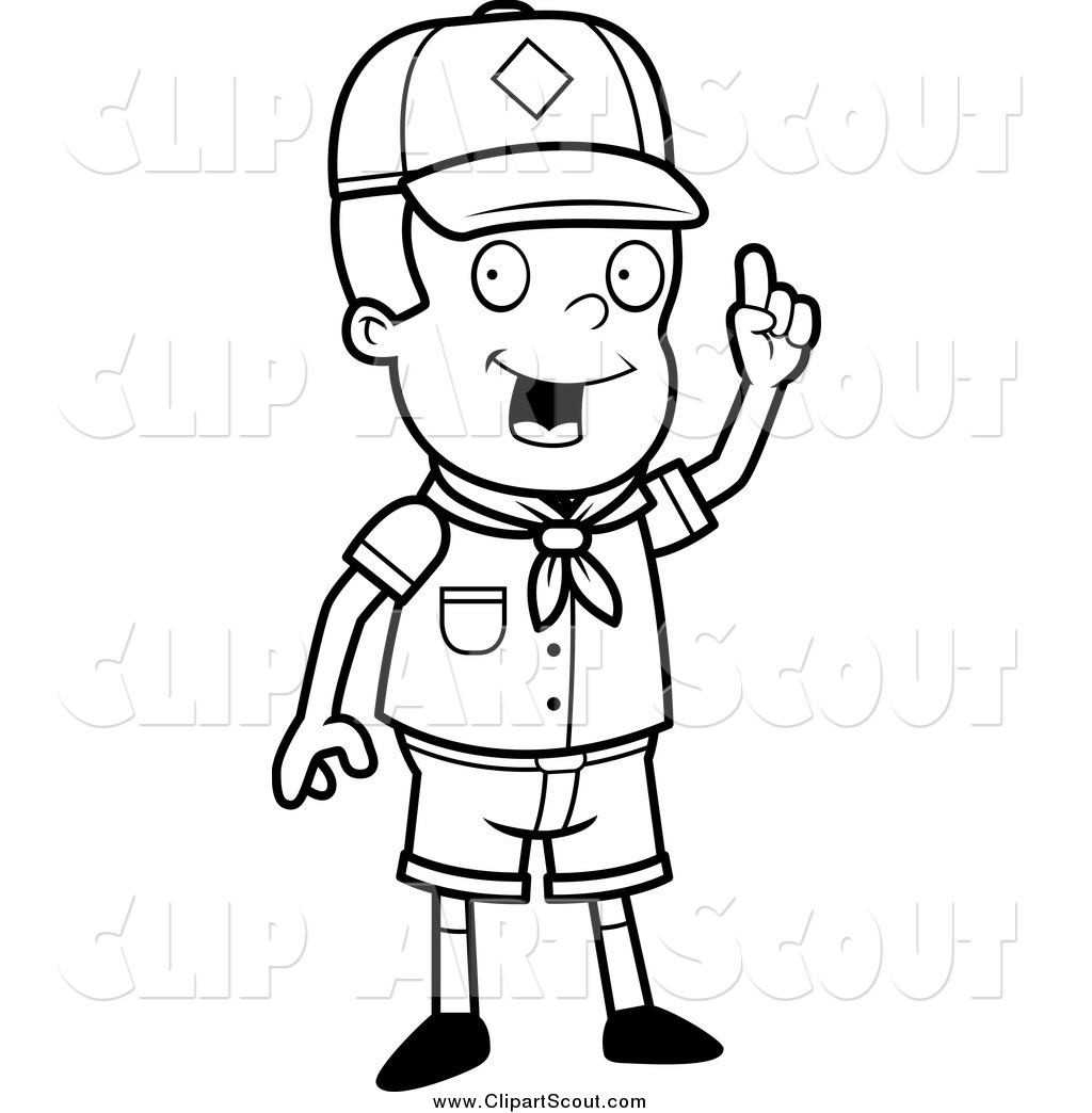 Boy Scout Black And White Clipart - Clipart Kid