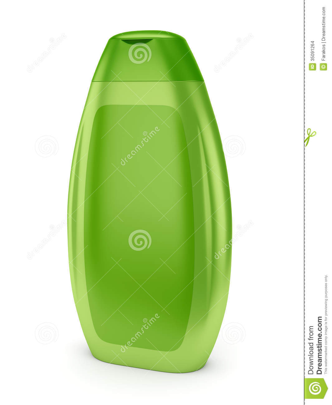 Shampoo Clipart Green Shampoo Bottle
