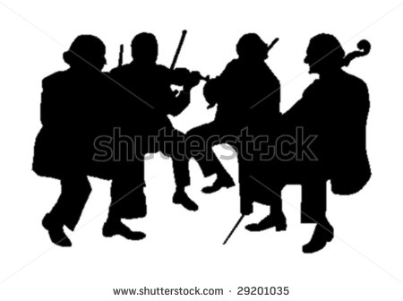 String Orchestra Silhouette