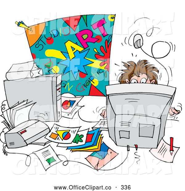 Students Messy Desk Clip Art