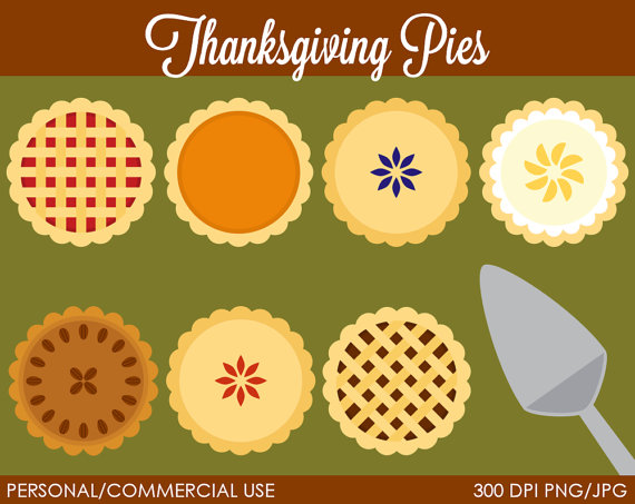 Thanksgiving Pies Clipart   Digital Clip Art Graphics For Personal Or