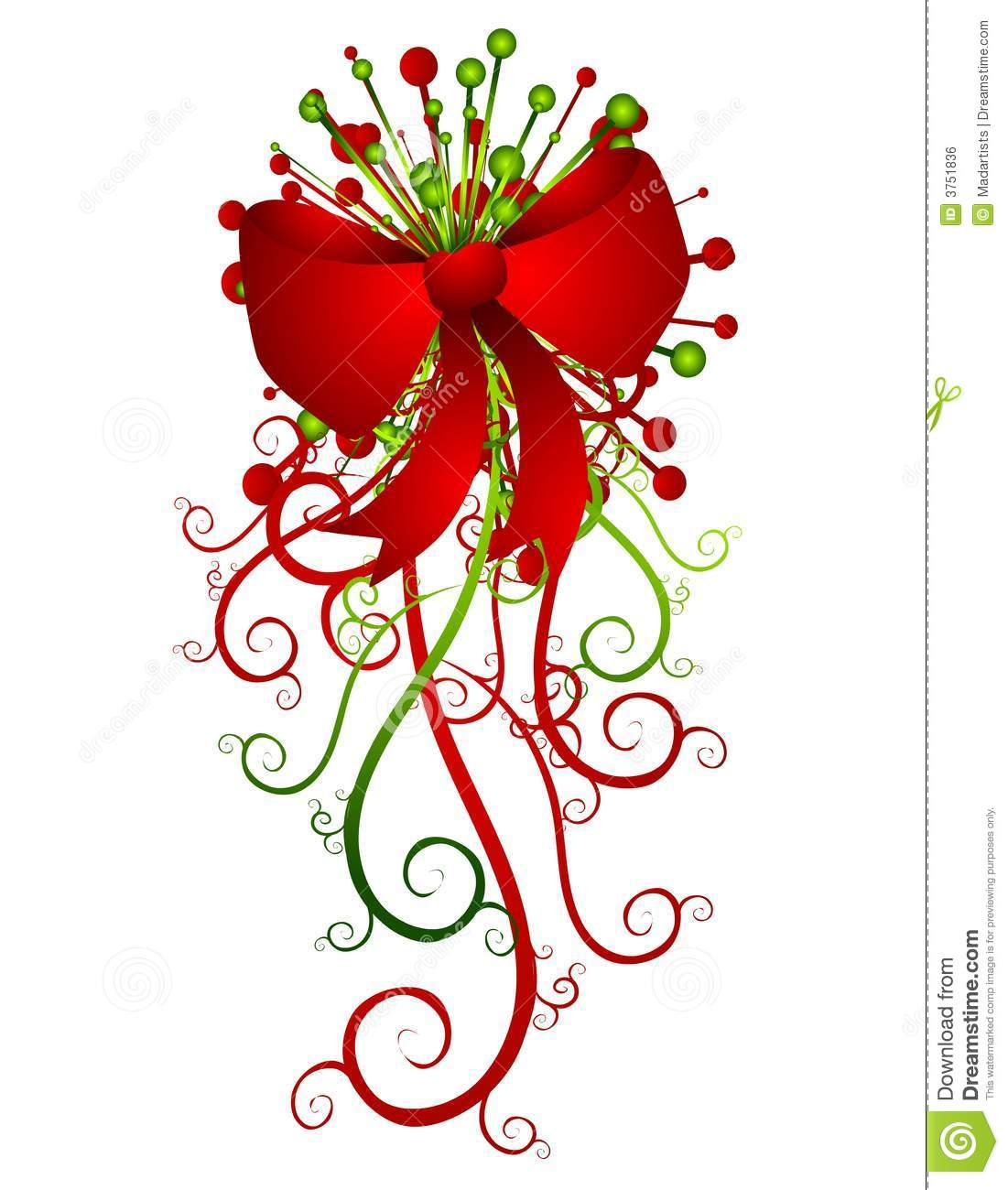 free christmas ribbon image