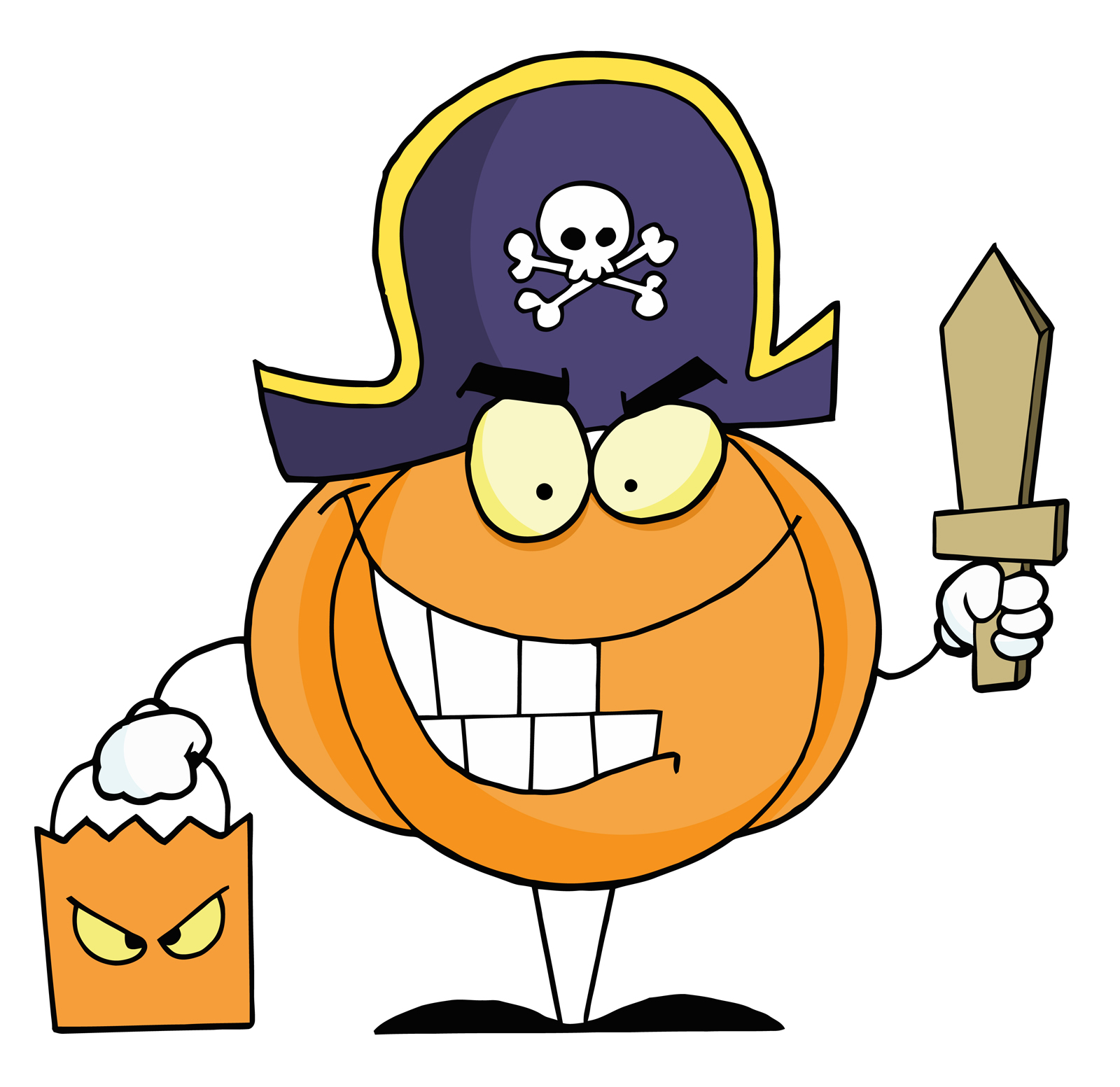 Treat Clipart 68063 Free Cartoon Clipart Illustration Of A Halloween