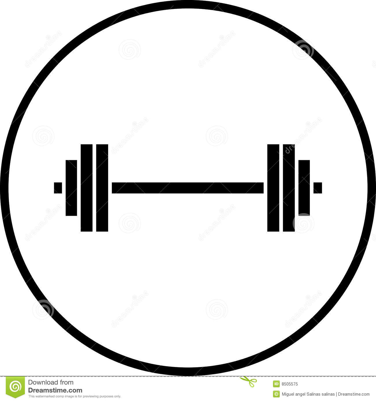 Weights Clipart Vector Barbell Gym Weights